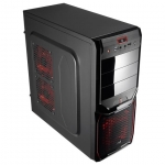 Корпус AeroCool V3X Advance Devil Red Edition Black