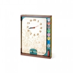 Часы с циферблатом под роспись Рыбки с красками