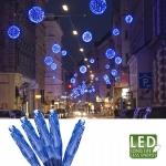 Гирлянда цепочка 3,9м голубая кабель прозрачный 3м 40 диодов LED indoor
