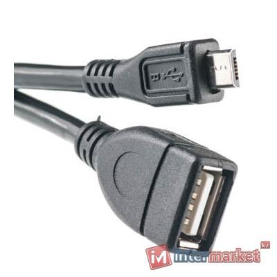 Кабель PowerPlant OTG USB 2.0 AF - Micro, 0.1м