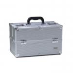 Кейс для визажиста, алюминиевый, размер 37Х22Х25см.
