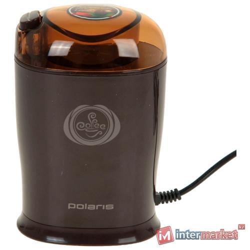 Кофемолка Polaris PCG 1017, коричневый