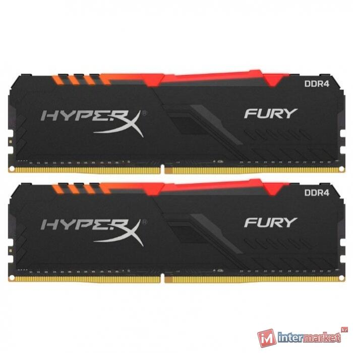 ОЗУ Kingston HyperX Fury RGB 32GB (16x2) /3200MHz DDR4 CL16 DIMM XMP HX432C16FB3AK2/32