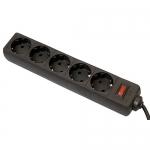 Сетевой фильтр Defender ES, 5 розеток, 5м, Black