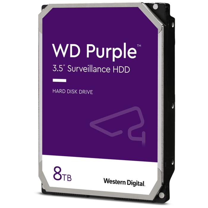 Жесткий диск для видеонаблюдения HDD 8Tb Western Digital Purple SATA3 128Mb 5640rpm 3,5